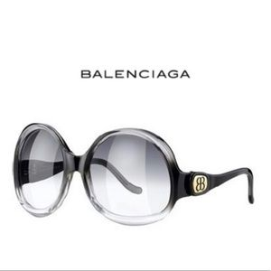 Balenciaga Oversized Upside Down Round Sunglasses